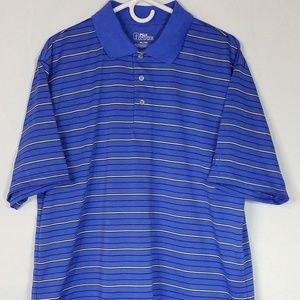 PGA TOUR Mens Polo Blue Size XL O985
